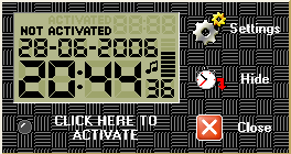 SourceBG DigitClock Screenshot