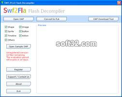 SWF2FLA Flash Decompiler Screenshot
