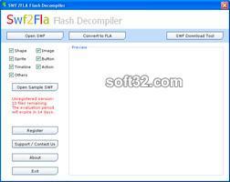 SWF2FLA Flash Decompiler Screenshot 1