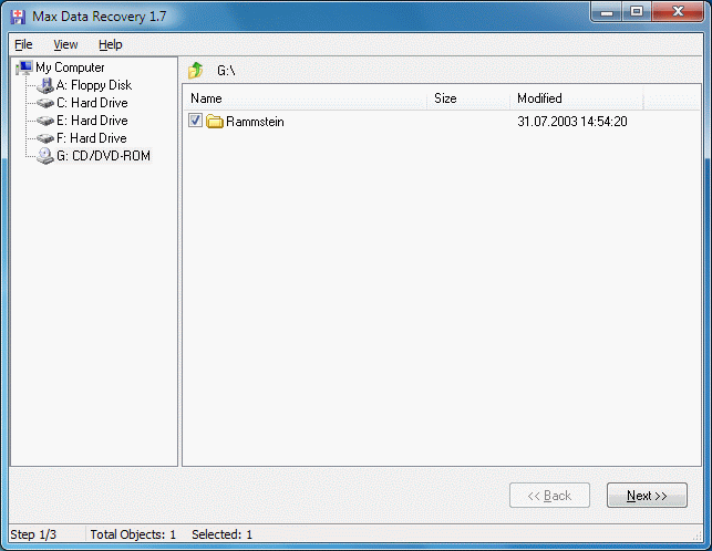 Max Data Recovery Screenshot 1