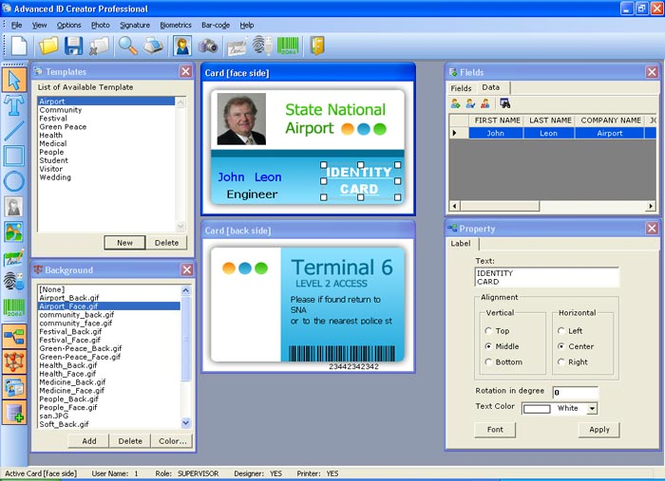Advanced ID Creator Professional Screenshot 1