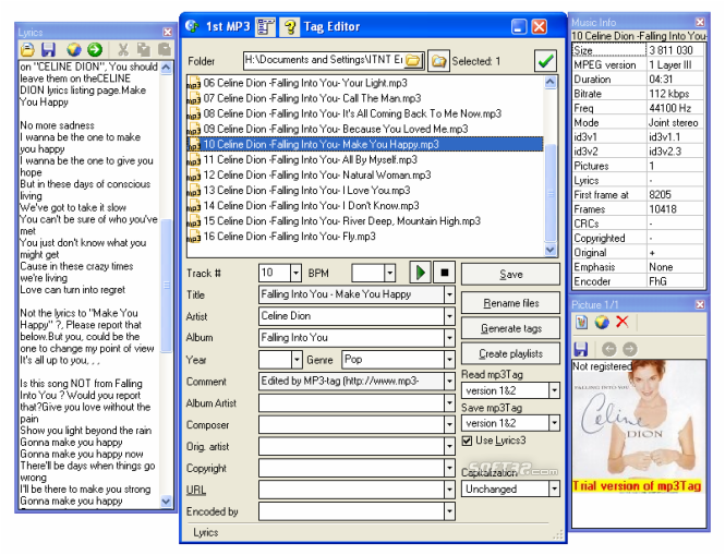 1st MP3 Tag Editor Screenshot 2