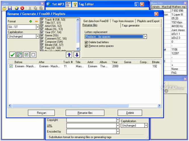 1st MP3 Tag Editor Screenshot 5
