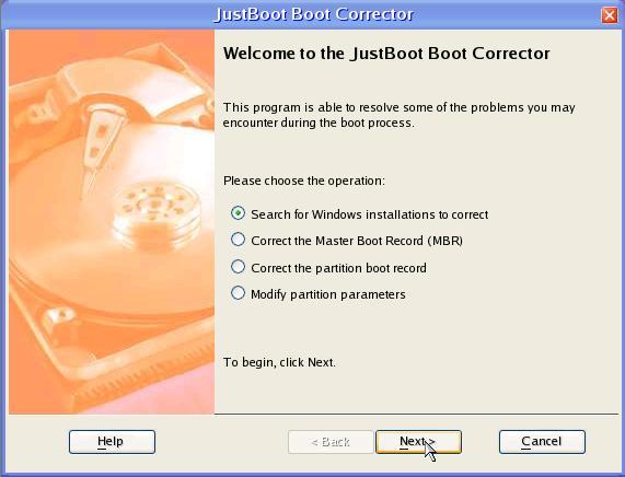 JustBoot Boot Corrector Screenshot