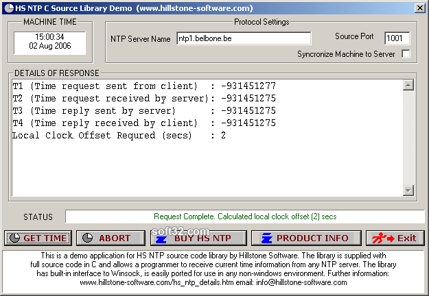 HS NTP C Source Library Screenshot 2