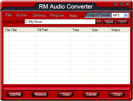 RM Audio Converter Screenshot