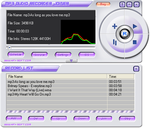 MP3 Audio Recorder Joiner Screenshot 3