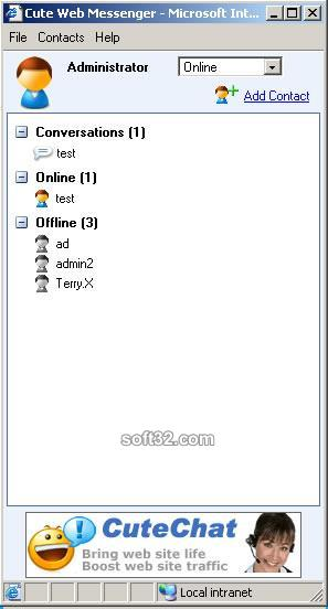 Cute Web Messenger Screenshot