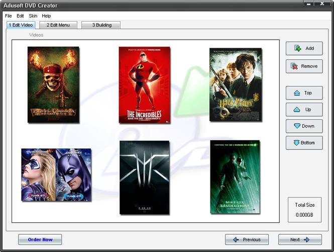 Adusoft DVD Creator Screenshot