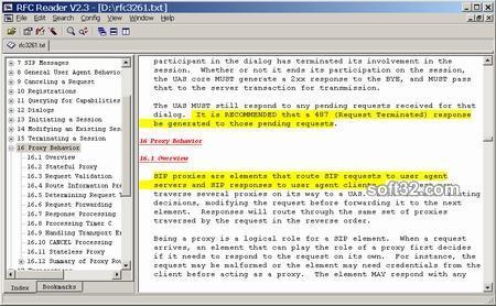 RFC Reader Screenshot