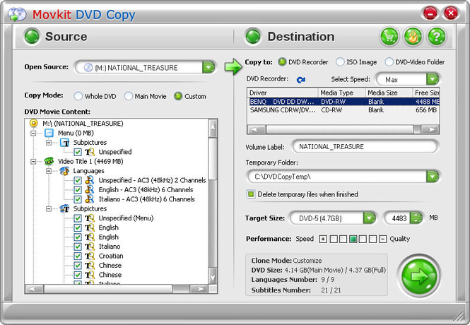 Movkit DVD Copy Screenshot 1