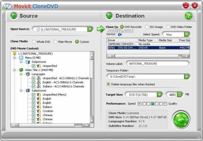 Movkit DVD Copy Screenshot 3