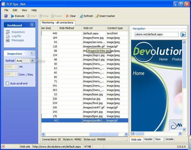 TCP Spy .NET Standard Edition Screenshot 3