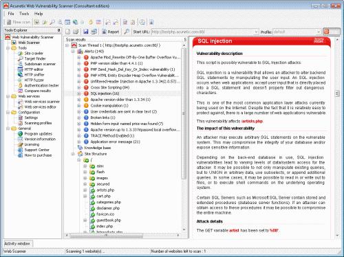 Acunetix Web Vulnerability Scanner FREE Screenshot 1