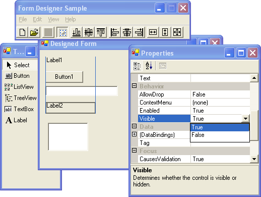 Form Designer .NET Screenshot