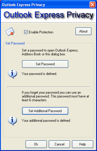 Outlook Express Privacy Screenshot 1