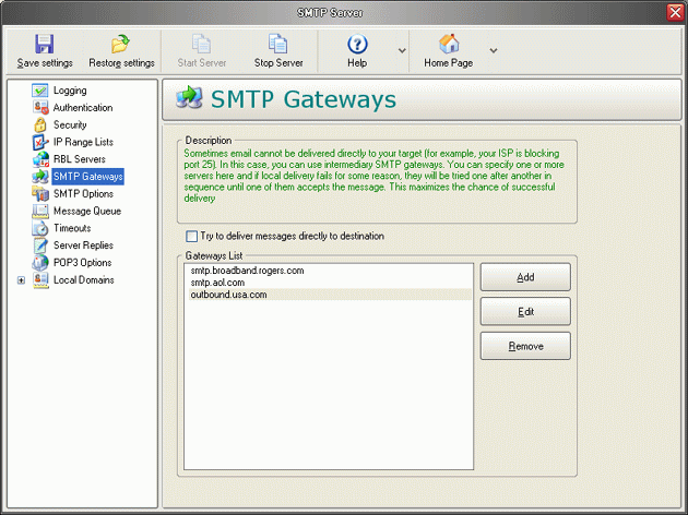 Personal Mail Server Pro Screenshot 1
