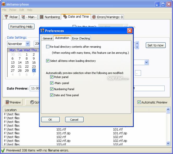 Métamorphose File -n- Folder Renamer Screenshot 5