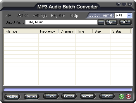 MP3 Audio Batch Converter Screenshot