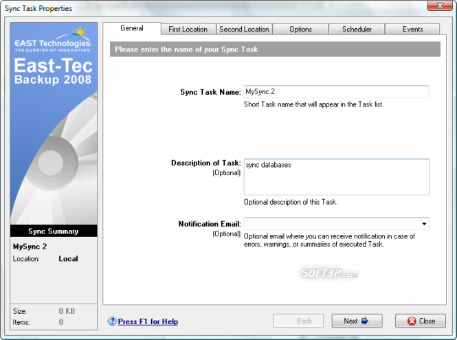 East-Tec Backup 2009 Screenshot 7