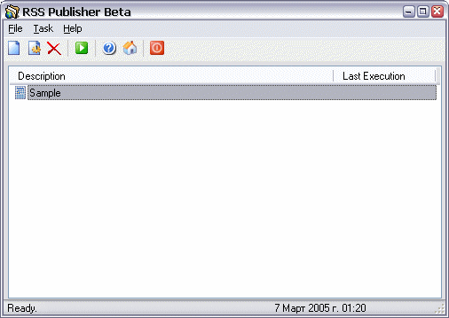 RSS Publisher Screenshot