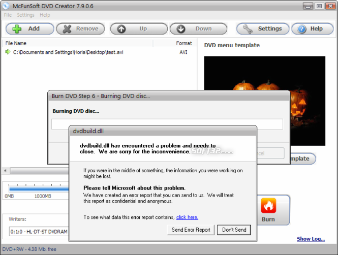 McFunSoft DVD Creator Screenshot 5