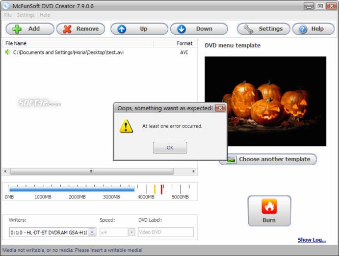 McFunSoft DVD Creator Screenshot 6