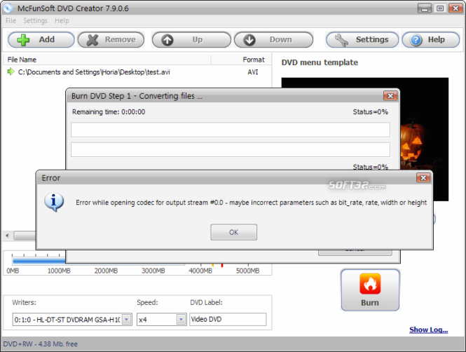 McFunSoft DVD Creator Screenshot 7