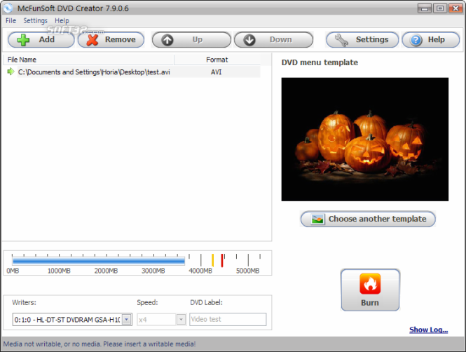 McFunSoft DVD Creator Screenshot 3