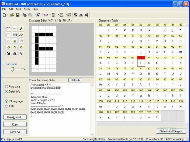 BitFontCreator Screenshot 3