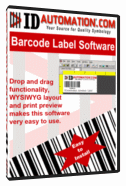 Free Barcode Label Design Application Screenshot 1