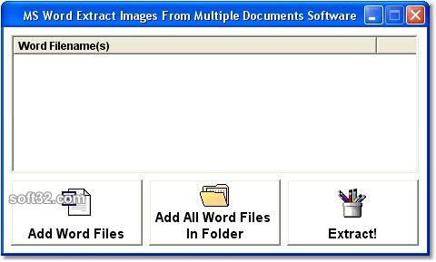 MS Word Extract Images From Multiple Documents Software Screenshot 3