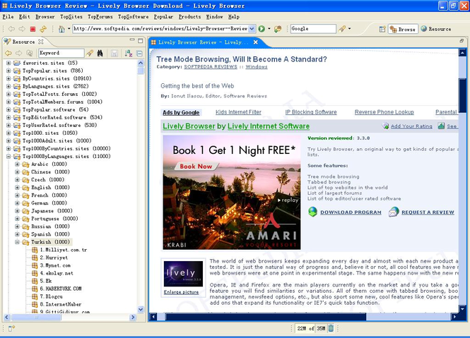 Lively Browser Screenshot