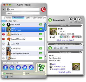 Gizmo Project Screenshot