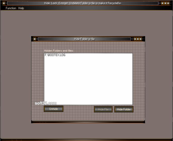 Hide Folder HiBit Screenshot 3