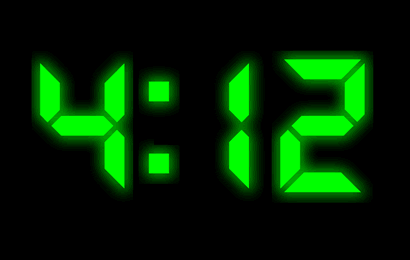 XClock Digital Clock Screen Saver Screenshot