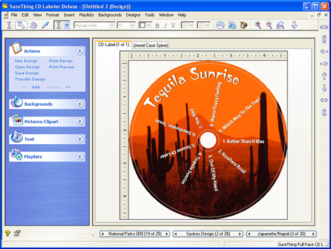 SureThing CD Labeler Screenshot 1