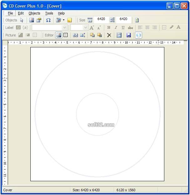 CD/DVD Cover Builder Screenshot 2