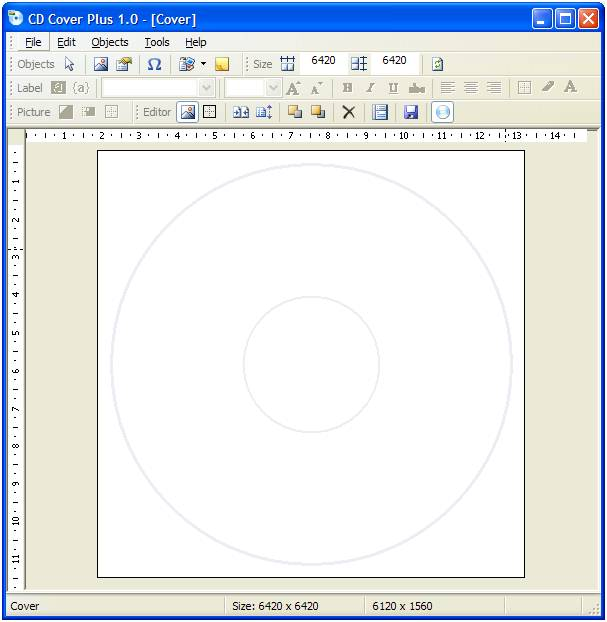 CD/DVD Cover Builder Screenshot