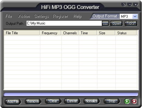 HiFi MP3 OGG Converter Screenshot 3