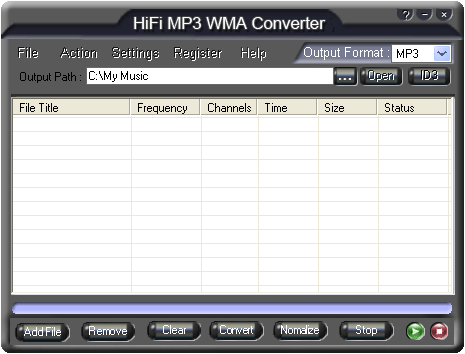 HiFi MP3 WMA Converter Screenshot