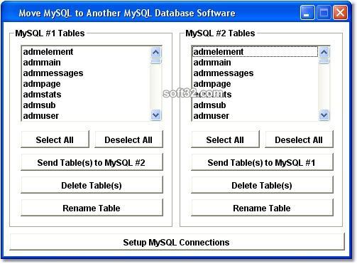 MySQL Move to Another MySQL Database Software Screenshot