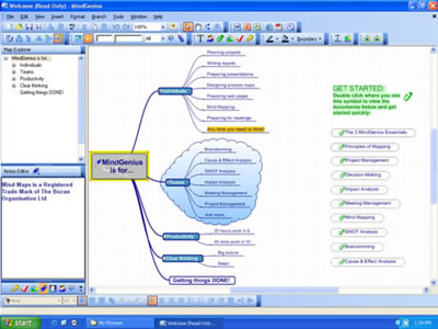 MindGenius Business Screenshot