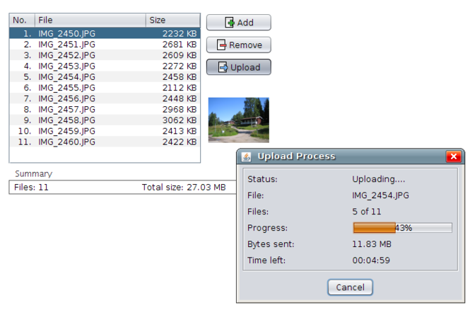 MyUploader Screenshot