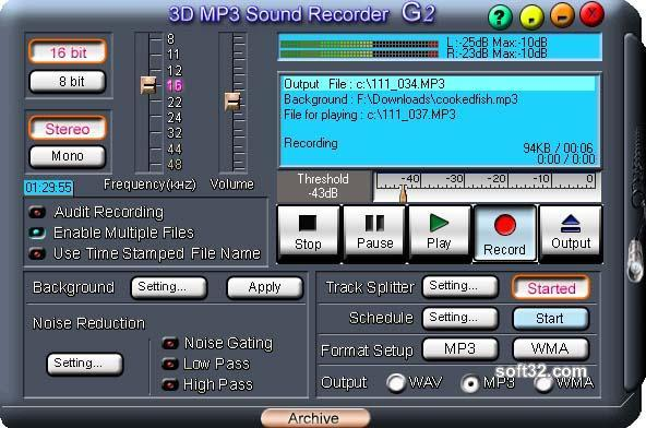 3D MP3 Sound Recorder G2 Screenshot 1