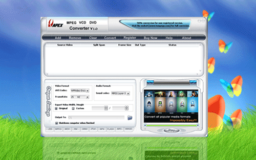 Apex MPEG VCD DVD Converter Screenshot 1