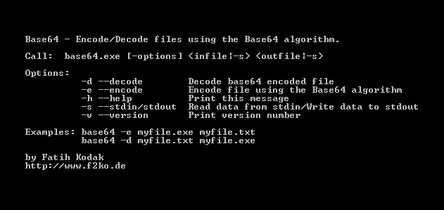 Base64 De-/Encoder Screenshot 1