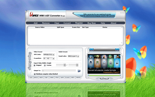 Apex WMV ASF Converter Screenshot