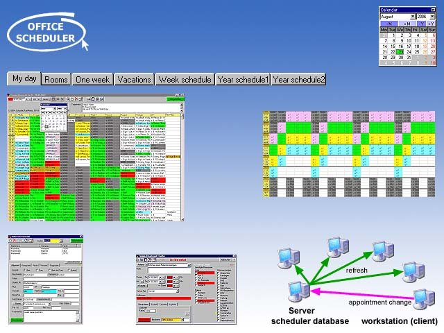 Office-Scheduler (network agenda) Screenshot 1