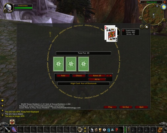 WoW Poker Screenshot 1